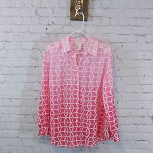 Chicos ombre pink top